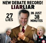 Mitt Romney: 27 Lies..In 38 Minutes